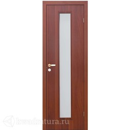 Финская дверь Олови Итальянский/Миланский орех без притвора с фурнитурой со стеклом