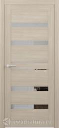 Межкомнатная дверь Фрегат (ALBERO) Дрезден лиственница мокко ЗЕРКАЛО