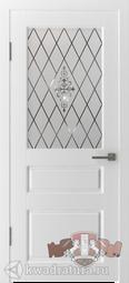 Межкомнатная дверь ВФД Честер Белый, стекло 1