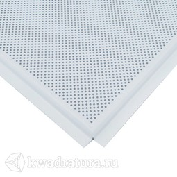 Кассетный потолок AP 600 Board Эконом Т-24/(T-15) Белый матовый перфорация, аллюминиевый 600*600 см