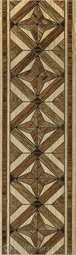 Бордюр для напольной плитки InterCerama MASSIMA коричневый  50*15 см
