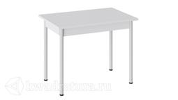 Стол Родос Тип 1 с опорой d40 (Белый муар/Белый) ТР