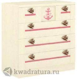 Комод Калипсо розовый Штрихлак ЛД