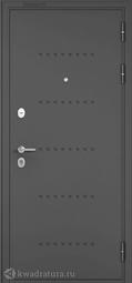 Дверь входная металлическая Бульдорс Mass 90 CR-3 Букле графит / Ларче шоколад (Черный лакобель)