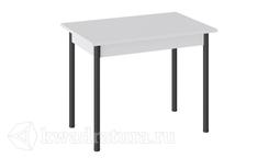 Стол Родос Тип 1 с опорой d40 (Черный муар/Белый) ТР