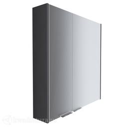 Зеркало-шкаф 1Marka Gaula 80 2 двери Black