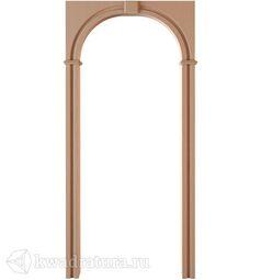 Межкомнатная арка Румакс Прямая светлый дуб, внутренняя полоса 20см