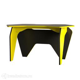 Стол письменный Mobi Базис 2 (чёрный/жёлтый)