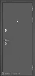 Дверь входная металлическая Бульдорс Mass 90 104 Букле графит / Ларче бьянко