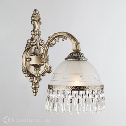 Настенный светильник (Бра) Eurosvet Хрустальный Lourence 22823/1 античная бронза