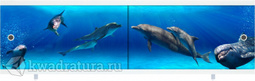 Экран под ванну Метакам Ультралегкий-Арт дельфины 150, 170 см