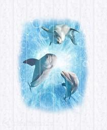 Потолочная панель ПВХ Unique Дельфины 2*2 м