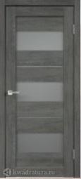 Межкомнатная дверь Velldoris (Веллдорис) Duplex 12 дуб шале графит, стекло мателюкс