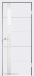 Межкомнатная дверь Velldoris (Веллдорис) SCANDI F Z1 Белая эмаль RAL 9003, стекло белое лакобель