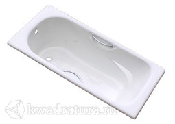 Чугунная ванна Goldman Donni 150*75 с ножками и ручками