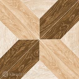 Керамогранит Grasaro Parquet Art Beige Brown GT-503/gr 40*40 см
