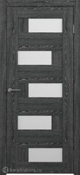 Межкомнатная дверь Фрегат (ALBERO) Гавана черное дерево, стекло белое
