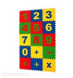 Мягкий пол ЭкоПром Математика 20*20 см (15 дет.)