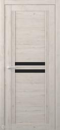 Межкомнатная дверь Фрегат (ALBERO) Каролина Кремовый стекло черное