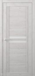 Межкомнатная дверь Фрегат (ALBERO) Каролина Жемчужный стекло белое