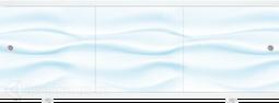 Экран под ванну Метакам Монолит-М Голубой 150, 170 см