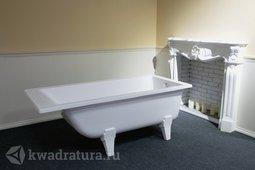 Каменная ванна Aqua de Marco Мальта белая 170*80 с каменными ножками