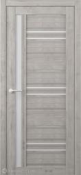 Межкомнатная дверь Фрегат (ALBERO) Невада Графит стекло белое