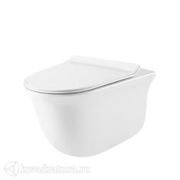 Унитаз подвесной GROSSMAN GR-4412S сиденье дюропласт, микролифт, 485*360*360, белый