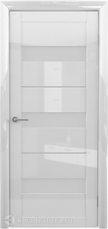 Межкомнатная дверь Фрегат (ALBERO) Прага глянец белый, стекло мателюкс