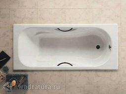 Чугунная ванна с ручками Roca Malibu 160*75
