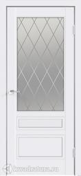 Межкомнатная дверь Velldoris (Веллдорис) SCANDI 3V ЛЕВАЯ/ПРАВАЯ Белая эмаль RAL 9003