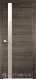 Межкомнатная дверь Velldoris (Веллдорис)Техно Z1 с замком дуб серый поперечный зеркало матовое