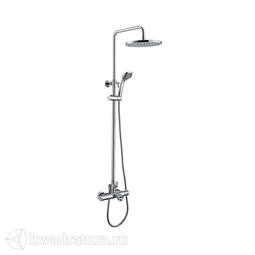Смеситель для ванны Iddis Thermolife, с термостатом и верхним душем THESBBTi06
