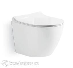 Унитаз подвесной GROSSMAN GR-4411S сиденье дюропласт, микролифт, 560*360*385, белый