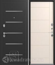 Дверь входная металлическая Легион L-2 чёрный шёлк/каньон
