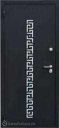 Дверь входная металлическая Зевс Z-5 Греция черный шёлк/орех южный